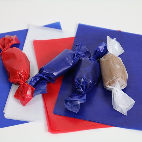 "Blue Caramel Wrappers 4"" x 5"" - 1 lb. Pkg (WW-1BLUE)"