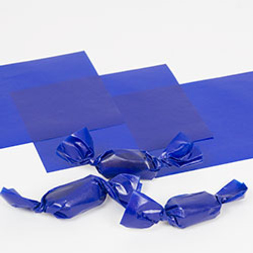 "Blue Caramel Wrappers 4"" x 5"" - 1 lb. Pkg"