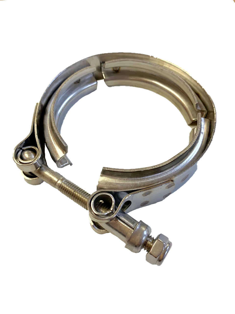 """T304 Stainless Steel Universal 3/"""" V-Band Clamp V Band Clamps 76mm Turbocharger"""
