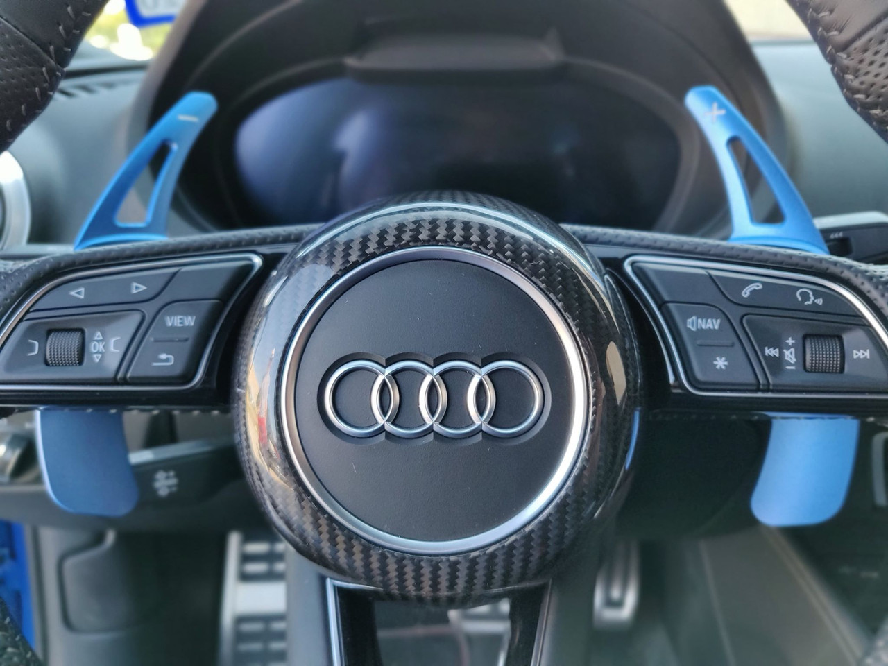 Audi S Line Carbon Fiber Steering Wheel Cover Fits A3 A4 A5 Tt Tts Ttrs R8