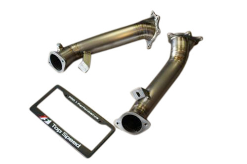 Full Titanium Catless Straight Turbo Down Pipe Pipes GTR GT-R R35 09-16