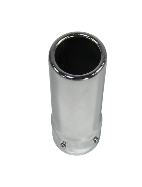 """Universal Bolt on Exhaust Tip Muffler Tips 2 1/4"""" ID Round Tip 57mm w/ 7"""" Length"""