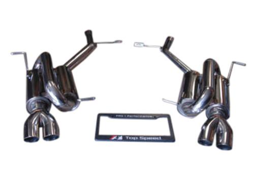 Mercedes Benz R171 SLK280 SLK350 2005-2011 Axle Back Exhaust Systems Quad Tips