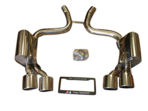 Mercedes Benz R230 SL63 AMG 09-12 T304 Axle Back Exhaust Systems Quad Oval Tips
