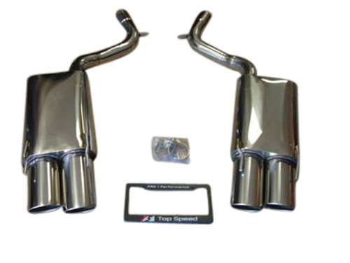 Mercedes Benz W221 S500 S550 S600 07-10 T304 Axle Back Exhaust Systems