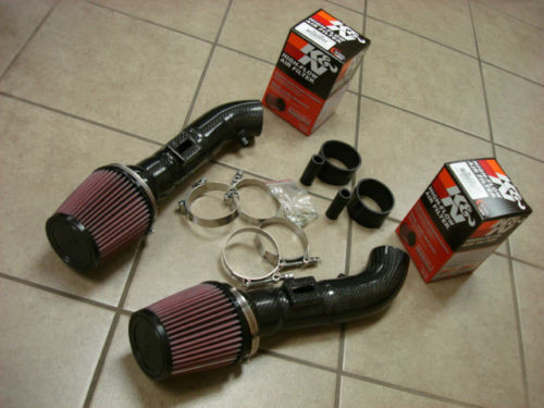 INFINITI G37 VQ37VHR 09-13 Dual Carbon Fiber Air Intake Systems with K&N Filters