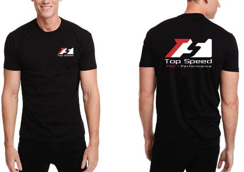 Top Speed Pro-1 Performance Black Crew Neck T-Shirt