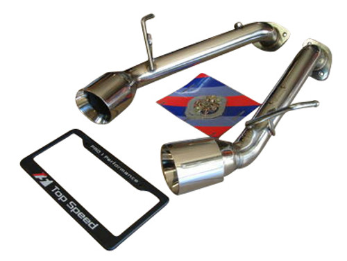 NISSAN 370Z Z34 BASE & NISMO 09-14, Infiniti G37 VQ37VHR 09-14, 370GT COUPE 09-14, Q60 COUPE 14-16, Dual Axle-back Straight Exhaust System Bevel Edge Tips)