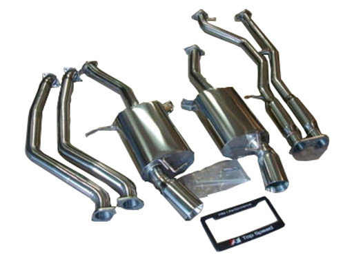 BMW E90 E92 E93 335i 335xi Coupe Sedan 07-10 Catback Exhaust System + Mid pipe