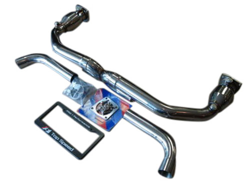 Porsche 996 TT Twin Turbo & GT2 Turbo TOP SPEED PRO-1 Straight X Pipe Exhaust