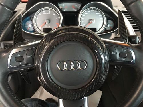 Audi TT TTS TT Quattro TT RS 08-15 R8 R8GT 08-15 Carbon Fiber Steering Wheel Center Cover