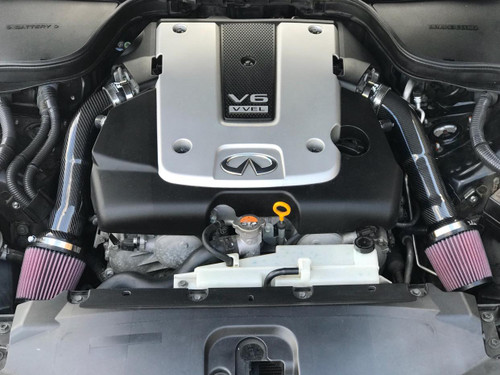 NISSAN 370Z Z34 / INFINITI Q50 Q50S / G37 COUPE / M37 SEDAN VQ37VHR Dual Carbon Fiber Air Intake Systems + K&N Filters