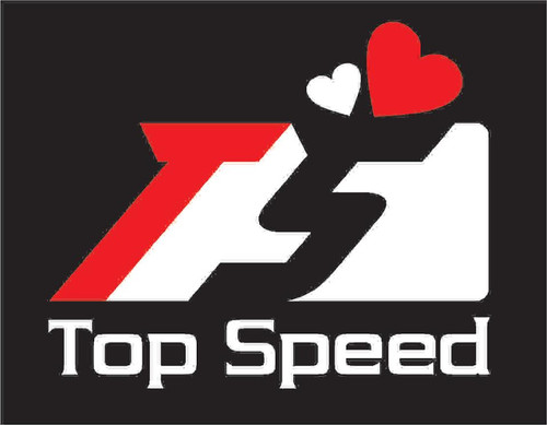 """Top Speed Pro-1 Performance 2-Tone 3""""x2.5"""" Valentine's Day Decal"""
