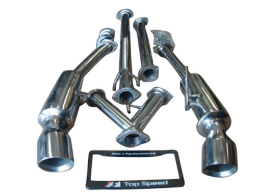 Altima Coupe 2.5L & 3.5L 08-13 Performance Dual Exhaust System Bevel Edge Tips
