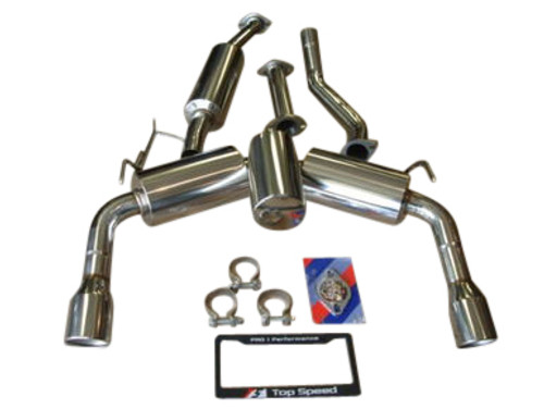 Top Speed Pro-1 70mm Street Spec Y-Pipe back Exhaust Systems FX35 FX37 FX50 SUV 09-14