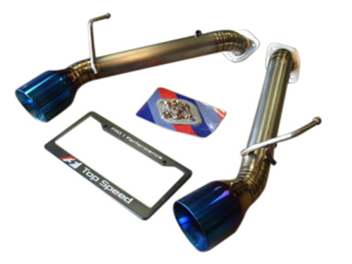 Infiniti G37 Coupe 09-13 / Q60 COUPE / 370Z Z34 09-17 Top Speed Pro-1 Full Titanium Straight Axle-Back Exhaust System