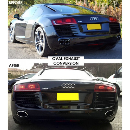 AUDI R8 5.2L V10 09-13 / 4.2L V8 08-14 T304 Factory Looks Exhaust Tip Muffler Tips Replacement