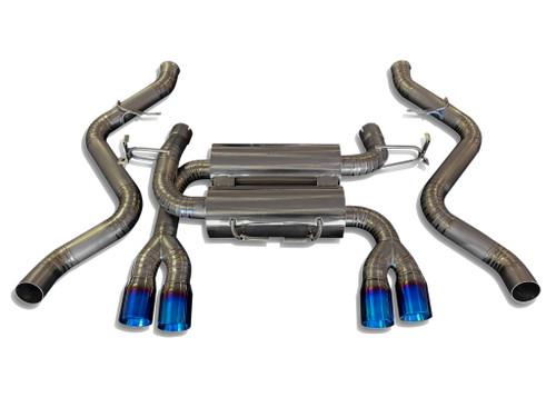 BMW E90 E92 E93 M3 Coupe Sedan 08-13 100% Full Titanium Rear Section Exhaust Systems