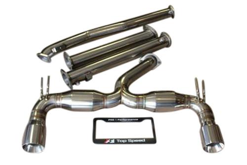 Mitsubishi Lancer Evolution 10 EVO-X 08-15 Top Speed Pro1 Exhaust System Bevel Edge Tip