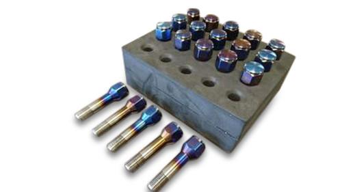 Full Titanium (Blue) Wheel Lug Nut Lug Nuts Stud Wheel Bolt fits Most Ferrari
