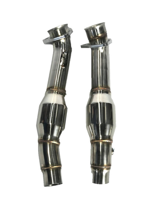 Ferrari F430 430 Coupe Spider 05-09 TOP SPEED PRO-1 Resonated Test Pipe