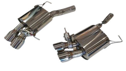 BMW F12 F13 650i Coupe Grand Coupe 12-16 Axle-Back Exhaust System With Valves