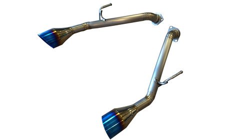 Top Speed Pro1 Infiniti Q50 Q50S Sedan RWD AWD 14-18 Titanium Axle-Back Exhaust