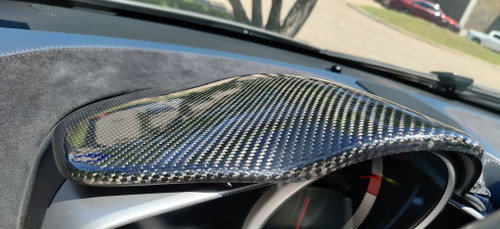 McLaren MP4-12C & 650S, 675LT Carbon Fiber Dash Panel Cover , Odometer Panel Cover