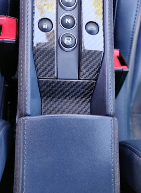 Mclaren MP4 12C 650S 675LT CARBON FIBER LOWER CONSOLE INSERT COVER