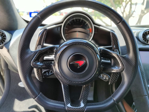 Mclaren MP4-12C 650S 675LT 570S 570GT 600LT 720S 765LT P1 Senna All Years Carbon Fiber Steering Wheel Cover