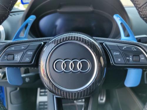 Audi S-Line Carbon Fiber Steering Wheel Cover fits A3 A4 A5 TT TTS TTRS R8 2017-20