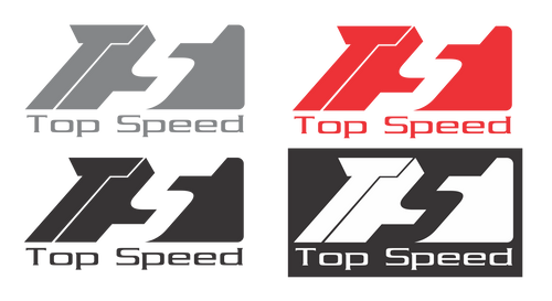 "Top Speed Logo Vinyl decal 3""x1.5"""