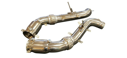 "McLaren MP4-12C & 650S 12-16 3.5"" 200 CELL HFC Turbo Down Pipes"