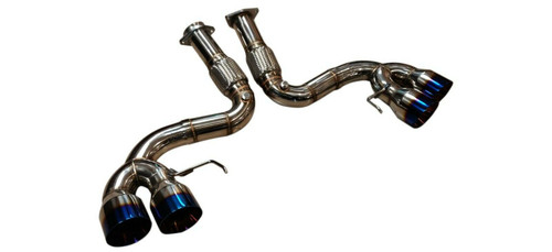 Chevrolet Corvette C8 6.2L 2020-up TOP SPEED PRO-1 T304 SP Exhaust System BLUE