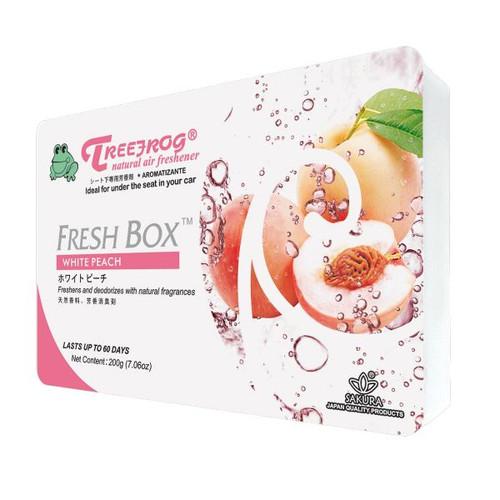 Treefrog Fresh Box Car Fragrance Car Air Freshener  white peach