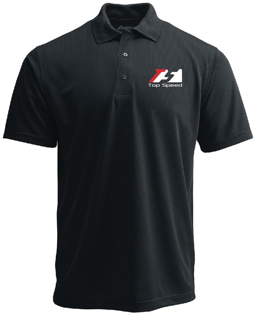Top Speed Pro-1 Performance Black Polo Shirt