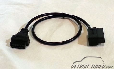 OBD II 2' Extesion Cable w/ Right Angle Connector