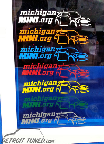 Michigan MINI Club Decals