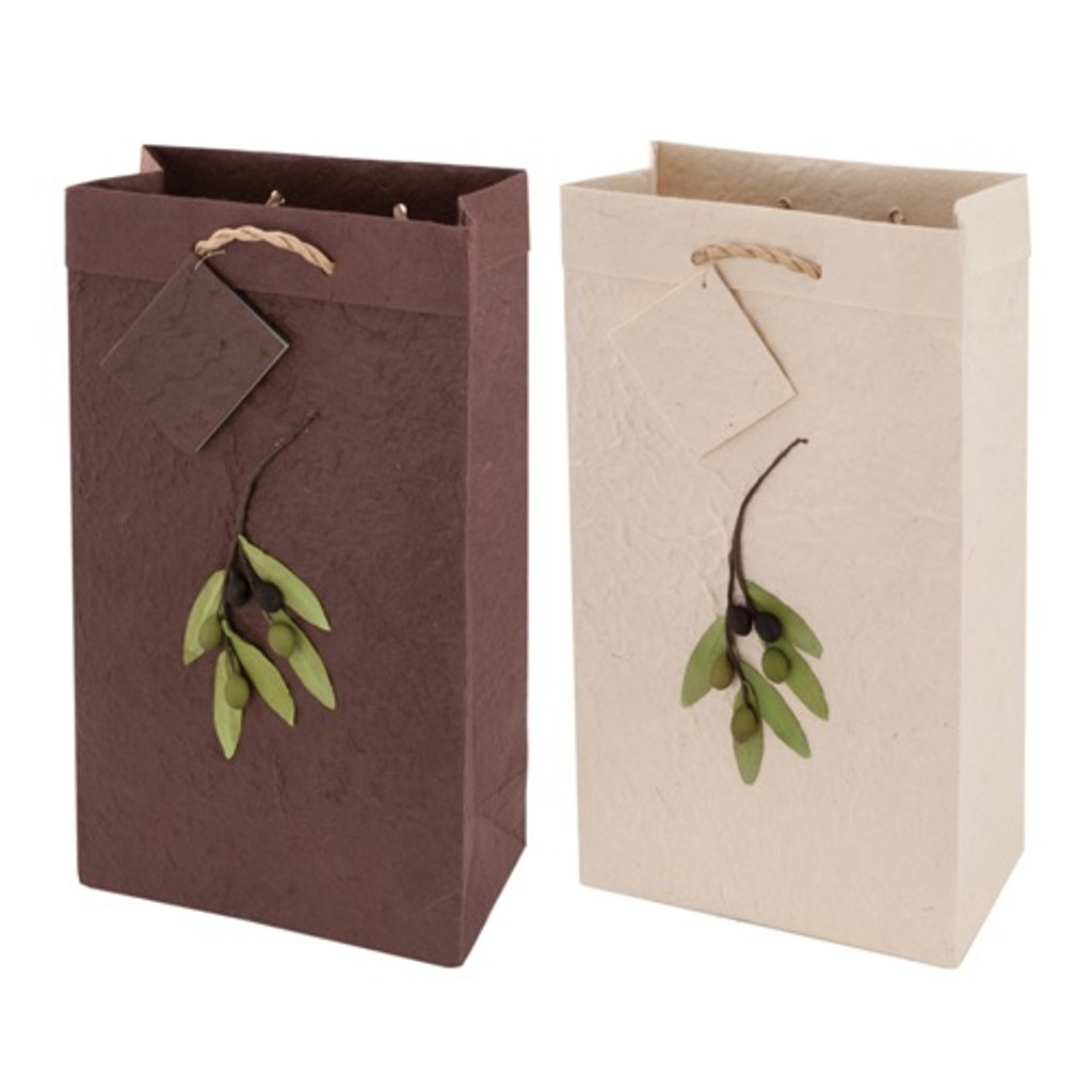 Olive Branch Gift Bag Two Bottle