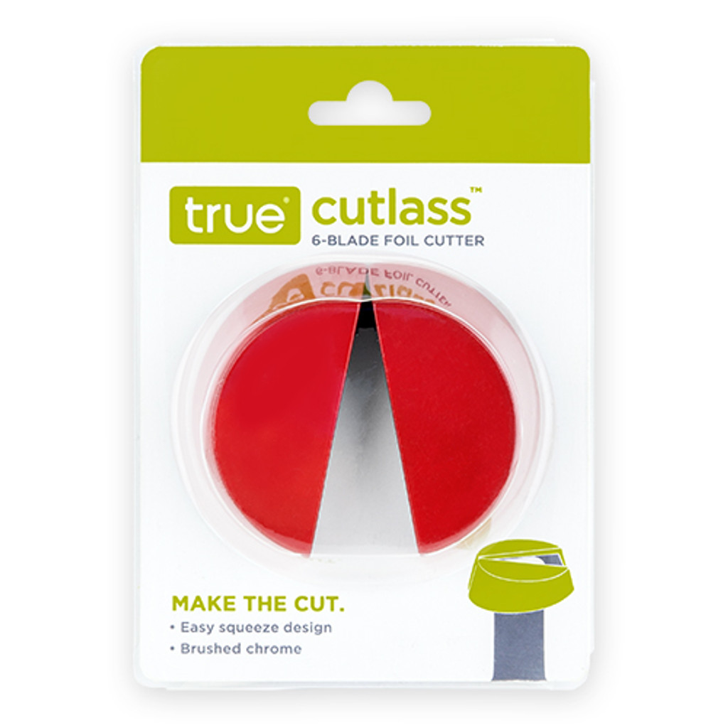 Cutlass™ Wine Foil Cutter Black and Red