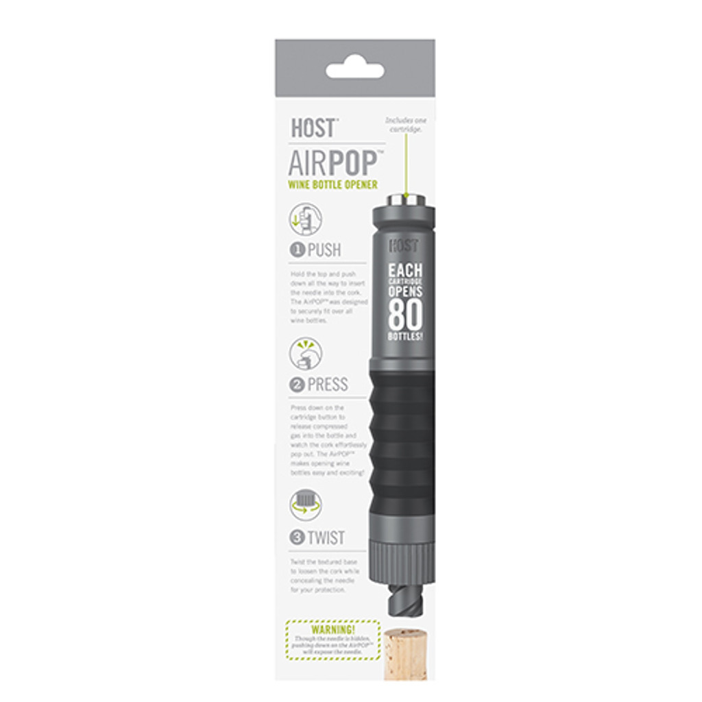 AirPOP™ Wine Bottle Opener in Grey by HOST®