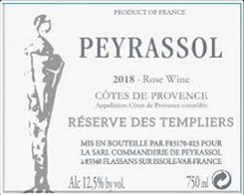 2018 Commanderie de Peyrassol Reserve des Templiers Rose