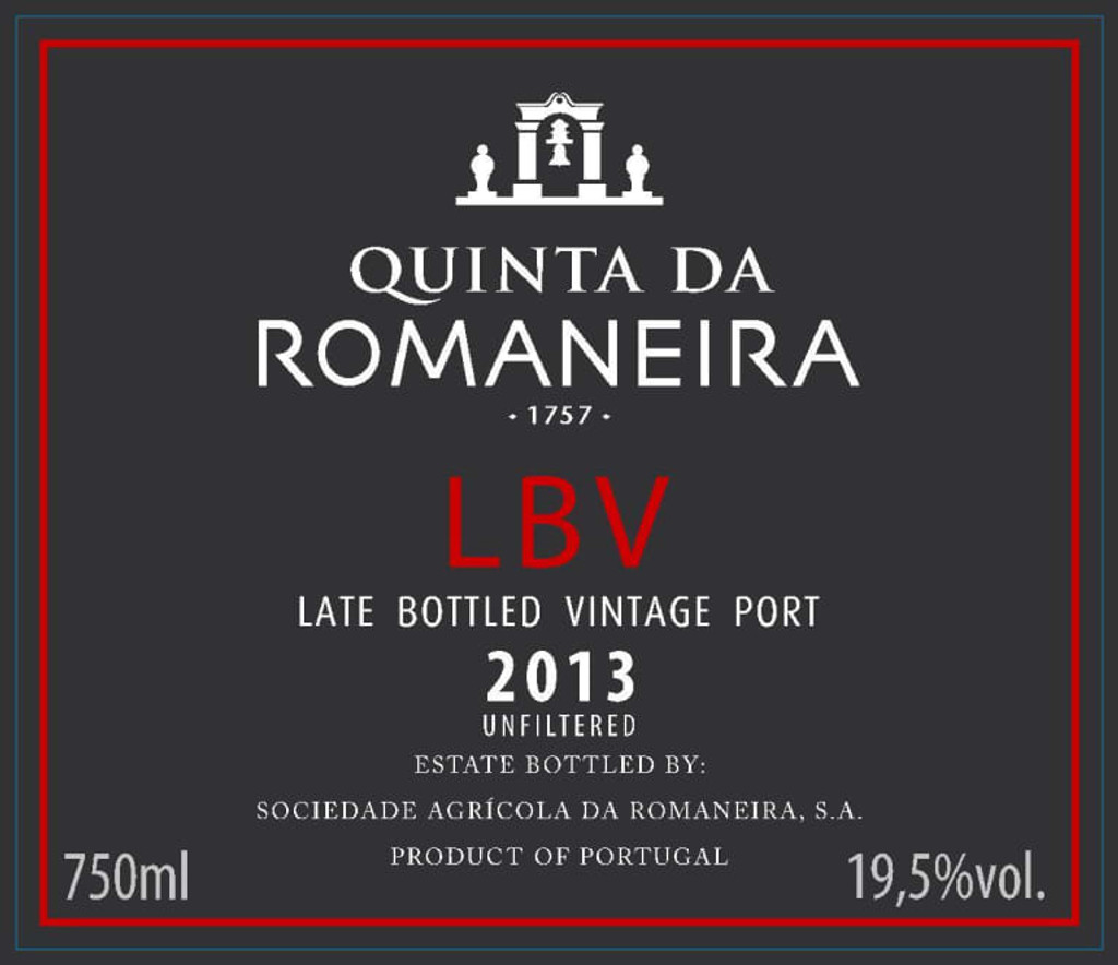 2013 Quinta Romaneira Late Bottled Vintage Port