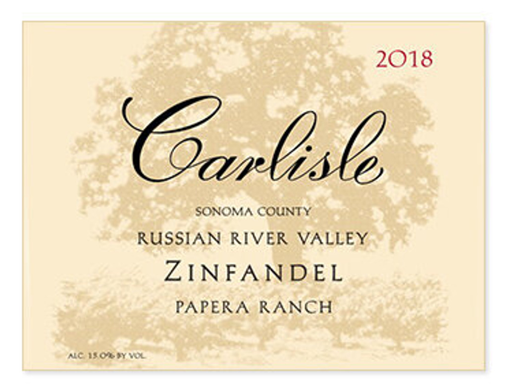 2018 Carlisle Zinfandel Papera Ranch Russian River Valley