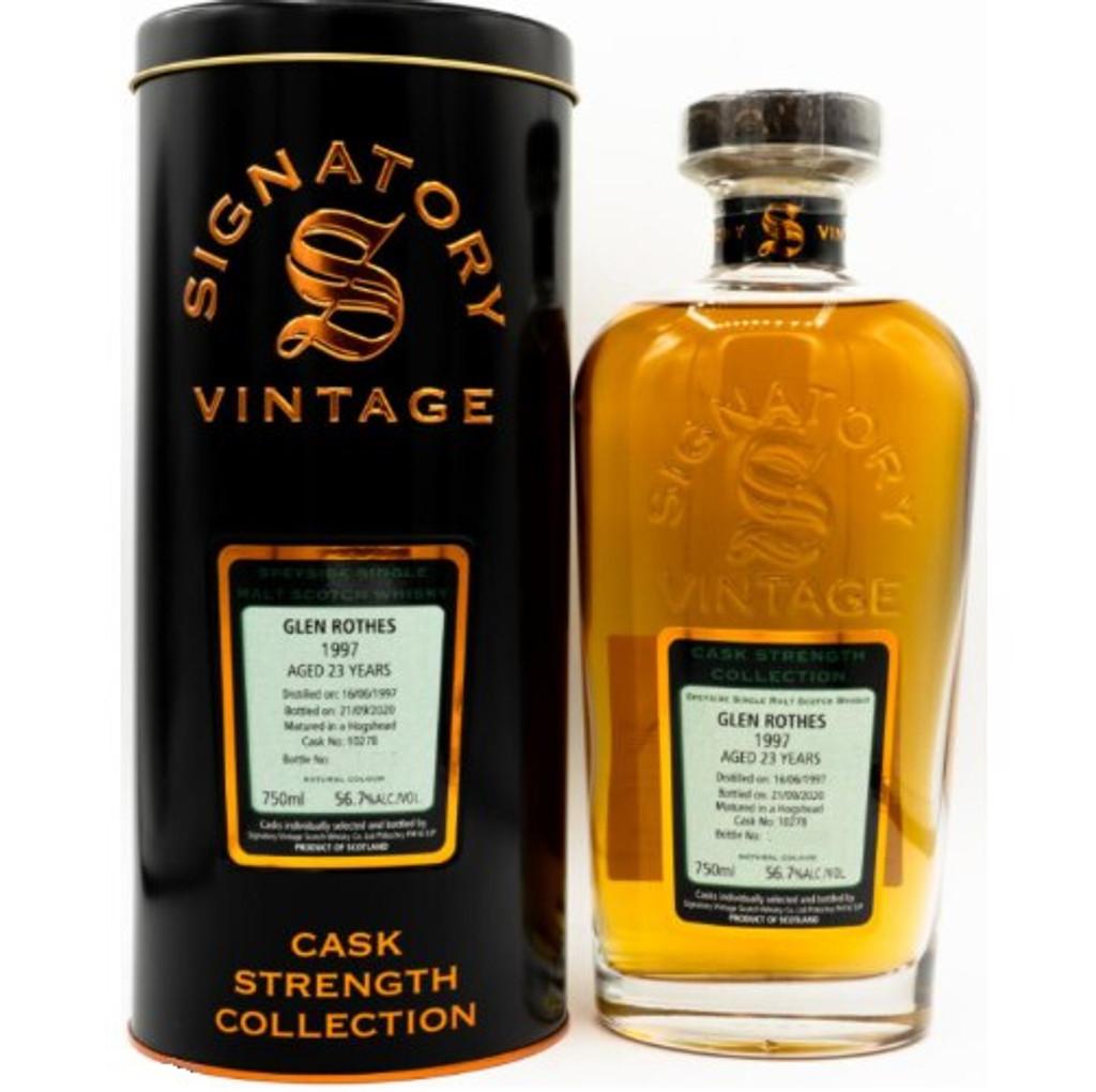 1997 Signatory Vintage The Glen Rothes Hogshead 23 Year Speyside Single Malt