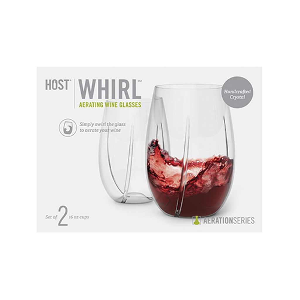 WHIRL™ Aerating Wine Glasses by HOST®- 2 pack