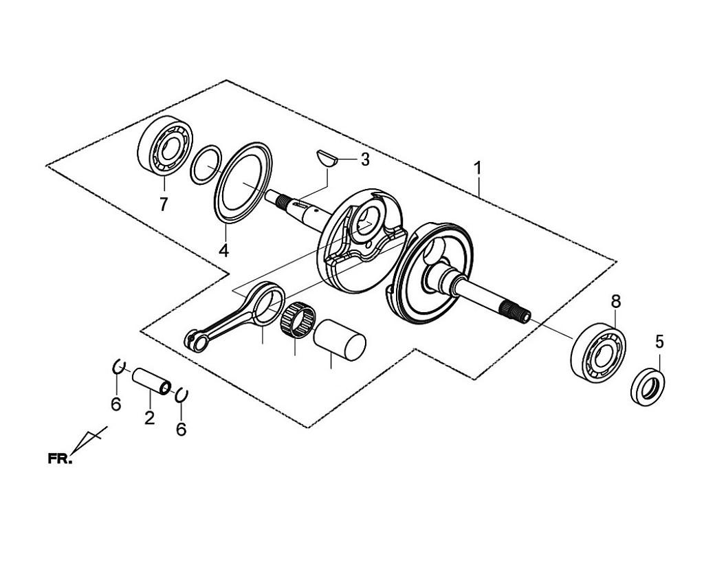 07 Radial Ball Bearing. 6207 - Citycom S 300i