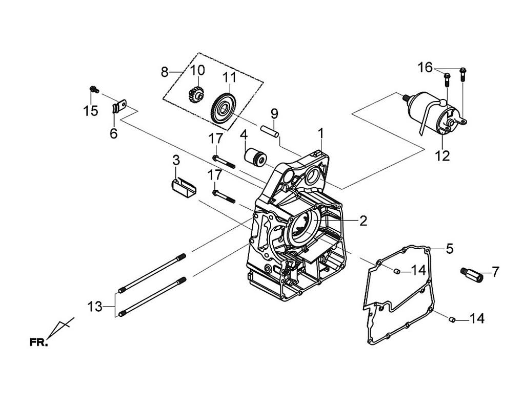 09 Start.reduction Gear Shaft (s10x37) - Citycom S 300i