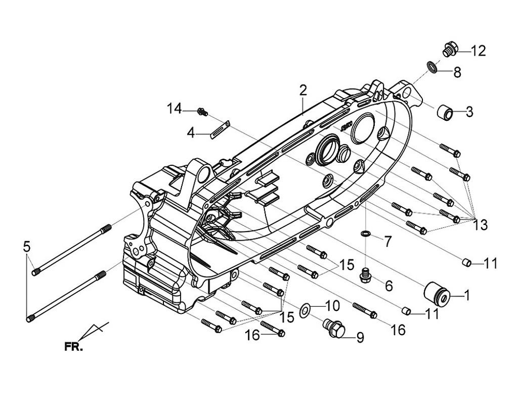 02 L. Crank Case Comp - Citycom S 300i