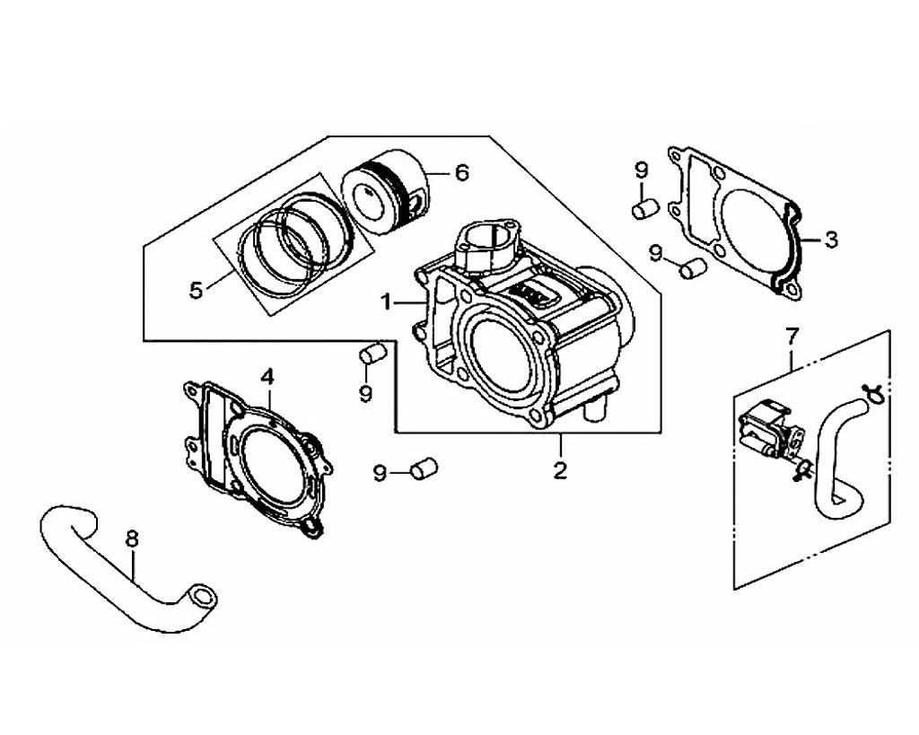 05 Piston Ring Set - HD 200 Evo